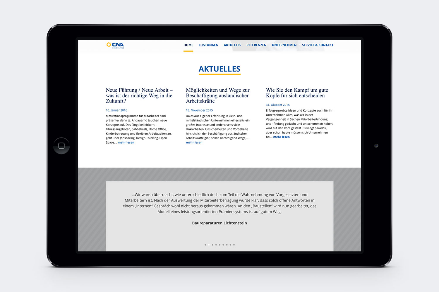 Punkt3 GmbH • Website · CNA Consulting